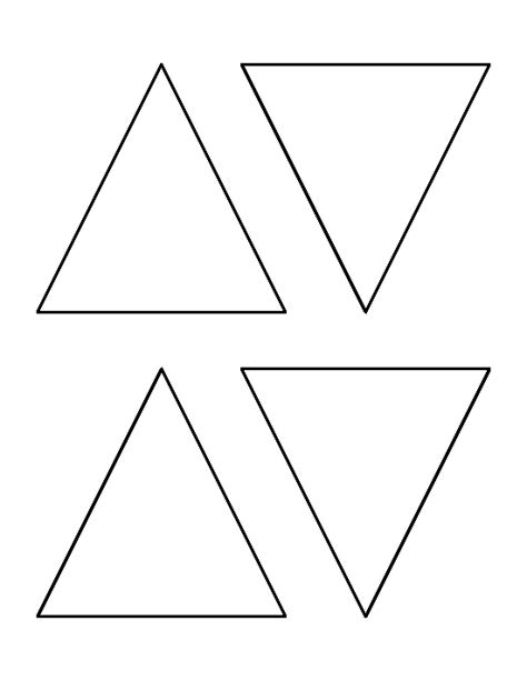 triangle template 4 inch triangle pattern use the printable outline for
