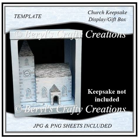 church id card template church keepsake display gift box template 163 1 50