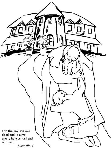 el hijo prodigo para colorear printable jesus prodigalson2 bible coloring pages
