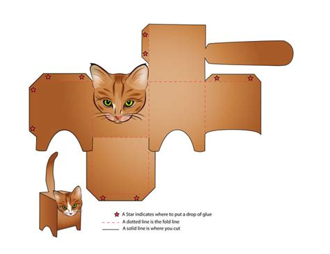 Learn Paper Craft - learn how to make a and a cat make a box cat