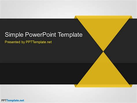 Free Simple Ppt Template Simple Business Template Powerpoint