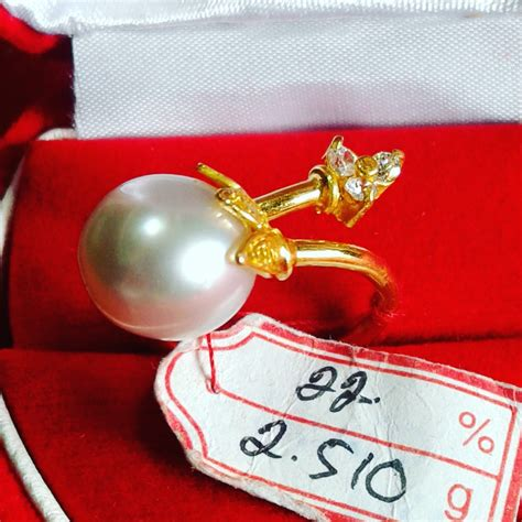 Cincin Handmade - handmade gold ring with south sea pearl cez 38 info