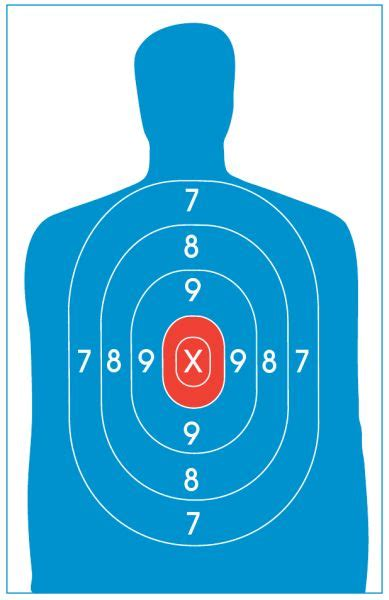printable man targets silhouette target smith wesson pinterest target