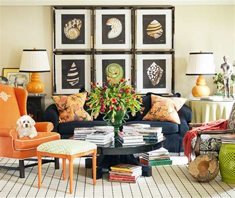 And Orange Living Room by What I Tobi Fairley Honeysuckle