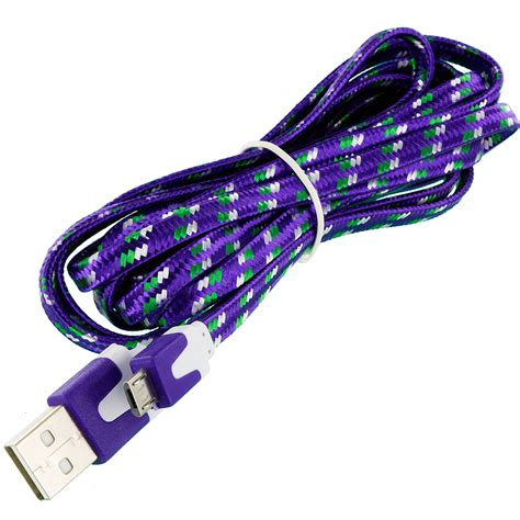 Best Seller Kabel Data Charger Braided Micro Usb Dap Dbm 100 2 4 braided rope micro usb data charger charging cable for smartphones ebay