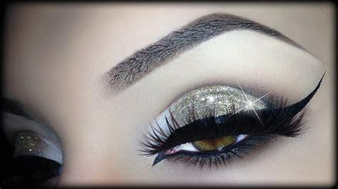 Eyeliner Arab arabic makeup gold glitter cat eyeliner tutorial trucco natale 2014