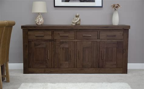 sideboard for dining room kendo solid walnut living dining room furniture extra large grand sideboard ebay