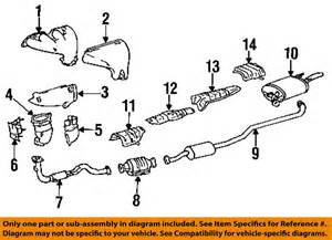 Exhaust System Part Names Toyota Oem 94 95 Celica 1 8l L4 Catalytic Converter
