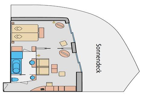 aida deluxe suite kabinen und suiten der aidamar