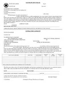 partial lien waiver template chicago title waiver fill printable fillable
