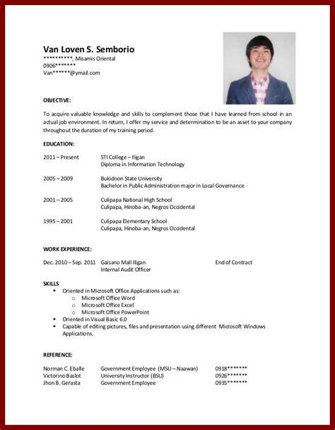 no college resume