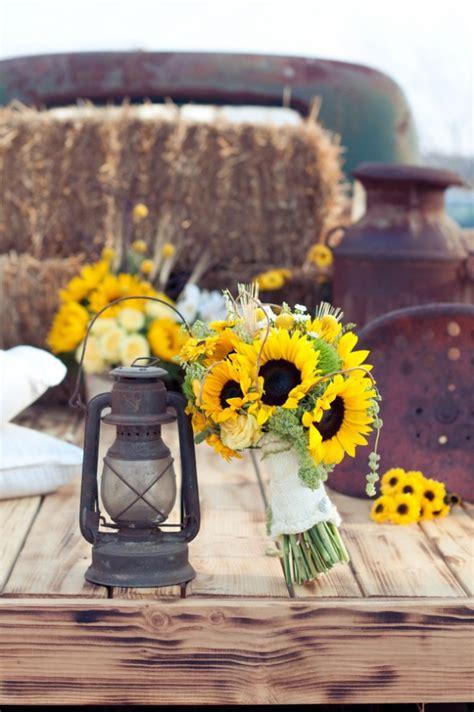 sunflower theme wedding rustic wedding chic