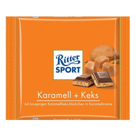 ritter sport tafel ritter sport karamell keks 250g kaufen im world