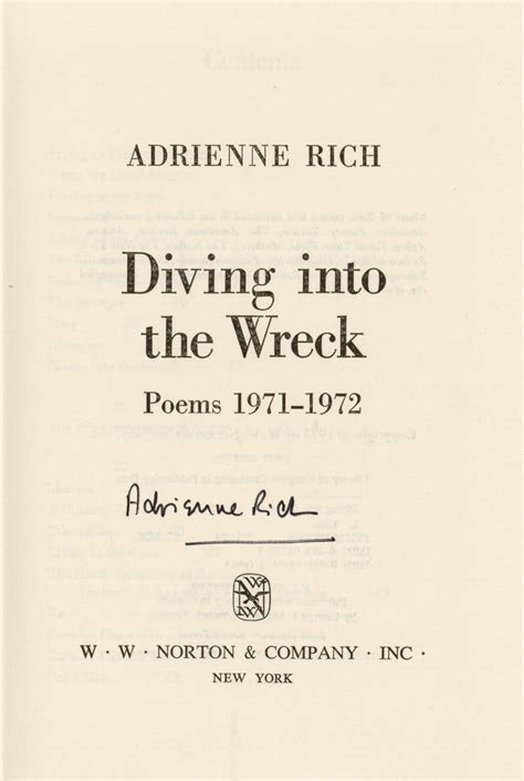 Adrienne Rich Diving Into The Wreck Essay by Keywords Project