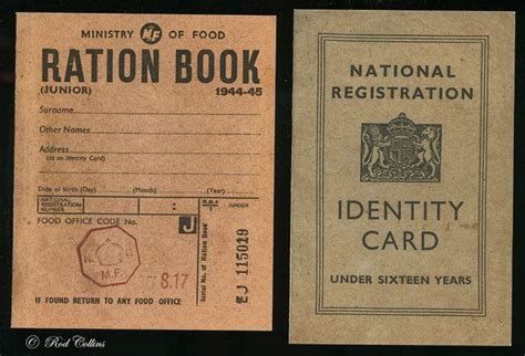 ww2 children s identity card template ration books and id cards ration book lincolnshire ww2