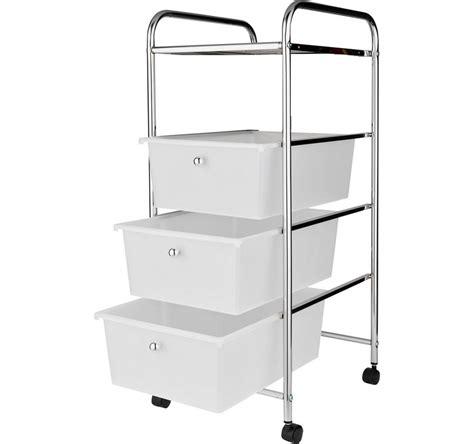 Storage Trolley Drawers by 3 Drawer Storage Trolley On Wheels Chrome Effect Frame Rrp