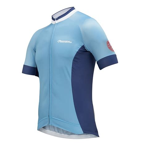 jersey power and light pearson power to the people cycling jersey light blue
