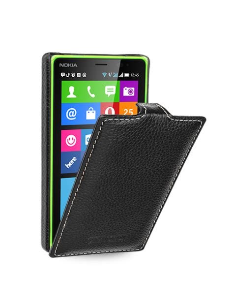 Cesing Nokia X2 tetded premium leather for nokia x2 dual sim troyes lc black tetded limited