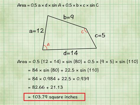 area calculater how to find the area of a quadrilateral with cheat sheets