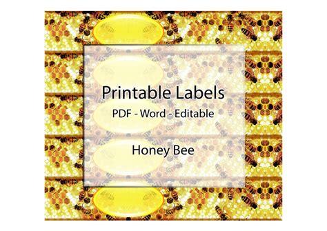 printable ord m label soap labels printable editable label honey bee honeycomb