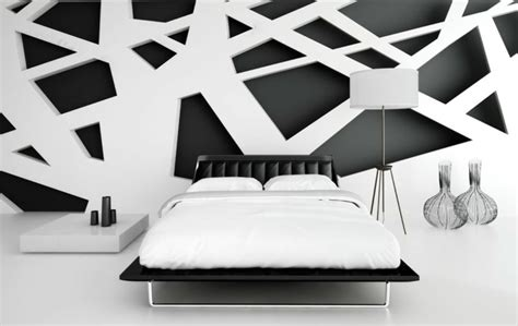 wallpaper cat abstrak d 233 co noir et blanc chambre 224 coucher 25 exemples 233 l 233 gants