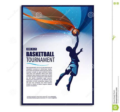 basketball flyer exle basketball illustration player sport concept poster