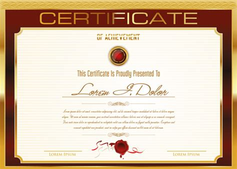 golden frame certificate template vector 03 vector cover