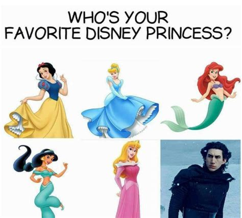 Disney Princess Memes - who s your favorite disney princess kylo ren meme