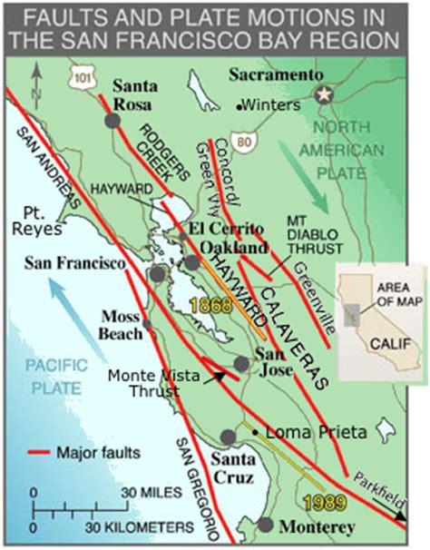san francisco fault map fault zones northern california