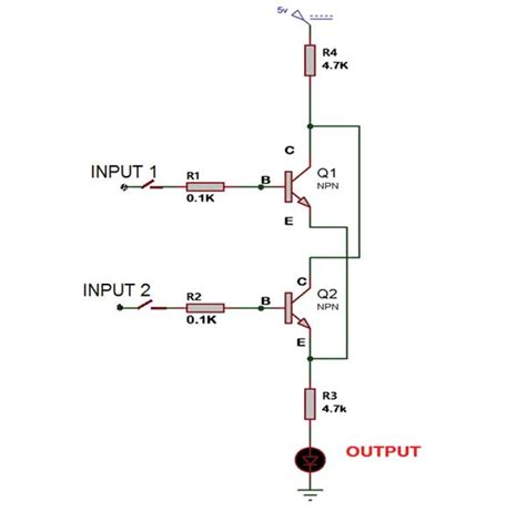 npn transistor or gate working of or gate using transistor engineersgarage