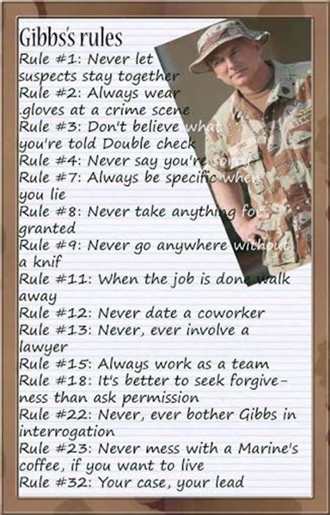 printable version of gibbs rules 1000 ideas about gibbs rules on pinterest ncis pauley