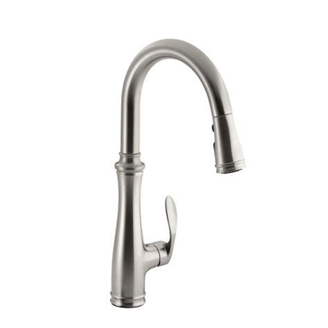 Spigot Vs Faucet by Kohler K 560 Vs Bellera Pull Kitchen Faucet Stainless Steel Faucetdepot