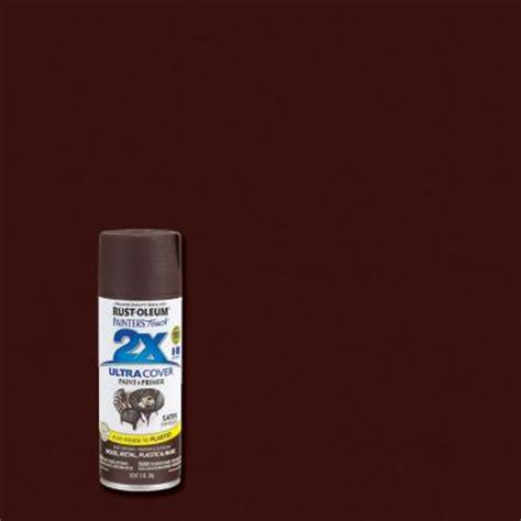 rust oleum painter s touch 2x 12 oz satin espresso general purpose spray paint of 6