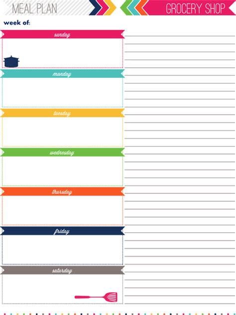 daily meal planner template free printable iheart organizing my 2013 daily planner