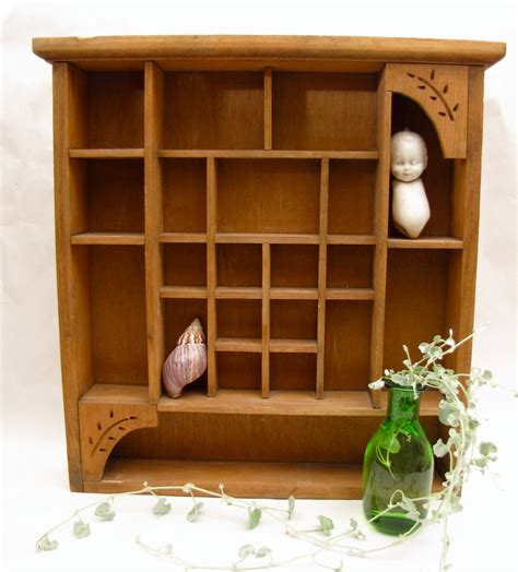 wooden wall display shelves curio cabinet wall hanging wooden display by