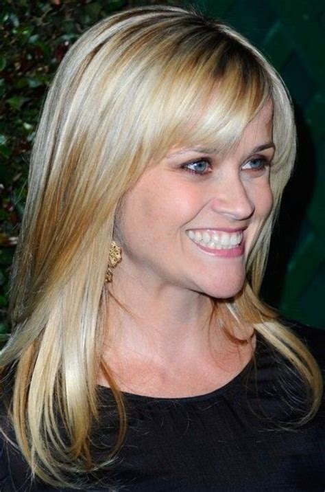 how to get reese witherspoon hair color reese witherspoon hair long straight cut with bangs