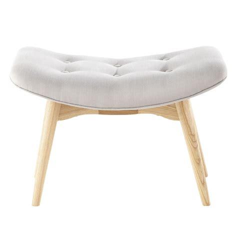grey scandinavian scandinavian grey fabric footstool pouffe iceberg