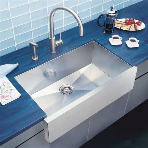 Contemporary Kitchen Sink Blanco Precision Single Bowl Stainless Steel Sink Modern Kitchen Sinks Other By