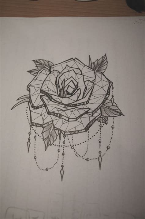 rose and chain tattoos with dot work chains tattoos