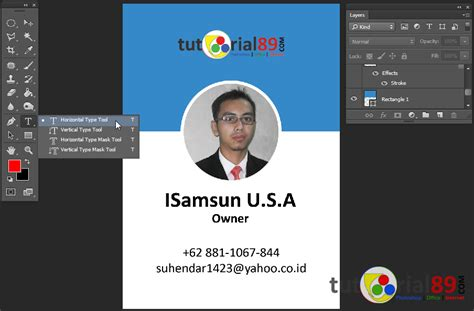 Membuat Id Card Pvc Sendiri | cara mudah membuat id card dengan photoshop video free