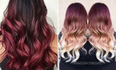 does hair look like ombre when highlights growing out 31 best red ombre hair color ideas stayglam