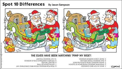 Printable Christmas Spot The Difference Games | auspac media the feature people