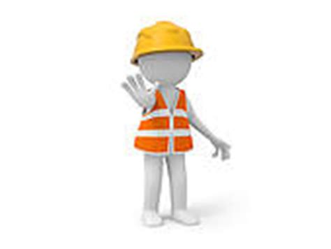 safety man clip art stock illustration of 3d man with safety first road sign