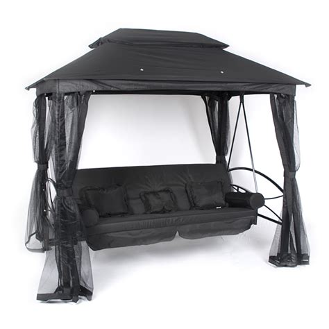 black gazebo customer reviews for ellister luxor swing seat gazebo black
