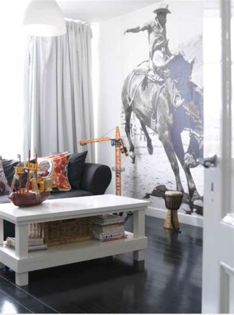 cowboy living room 26 photo accent walls that will blow your mind digsdigs