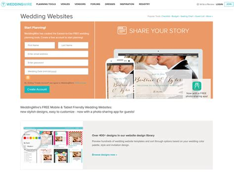Weddingwire Wedding Website by Top 10 Practical Free Wedding Website You Need To