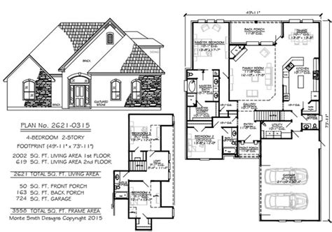 50 foot wide house plans narrow 2 story floor plans 36 50 foot wide lots