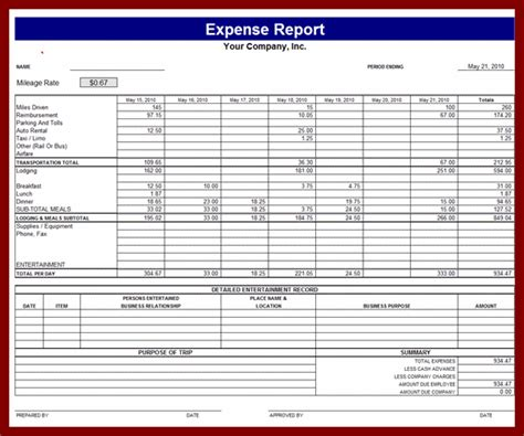 business expense reports gse bookbinder co