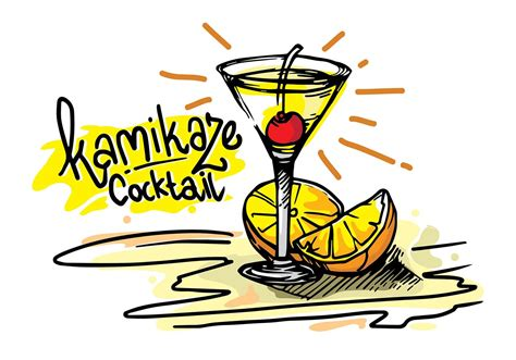 cocktail vector kamikaze cocktail tropical vector free vector