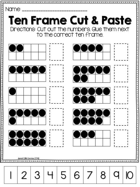 Ten Frame Worksheet by 25 Best Ideas About Ten Frames On Ten Frame
